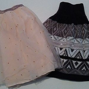 Crazy 8 Cato Lot of 2 Girls Skirts Size 14